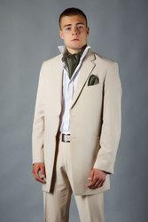 смокинг бархатная шалька, сюртук Амир бежевый, костюм мужской