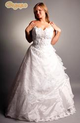 свадебное платье большого размера-полной невесте